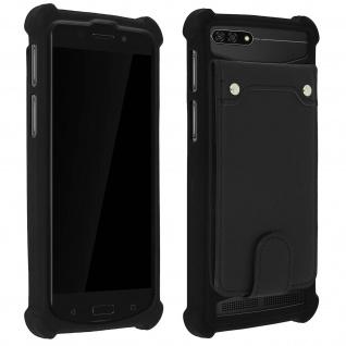 Schockabsorbierende Hülle für Smartphones zwischen 4.3'' und 4.7'' - Schwarz