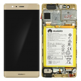 Ersatzdisplay Huawei P9 kompatibel, Scheibe vormontiert - Gold