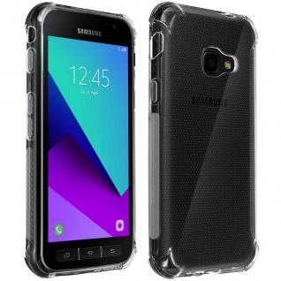 Akashi Samsung Galaxy Xcover 4 / 4s Silikon Bumper Hülle, stoßfest - Transparent