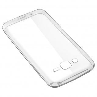Samsung Galaxy J5 Rundumschutz â€? transparente Hülle + Glas-Displayschutzfolie