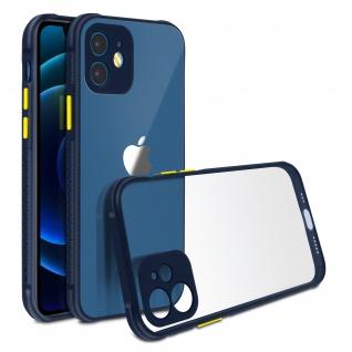 Apple iPhone 12 Mini Hülle aus Polycarbonat, Bumper aus Silikon - Dunkelblau - Vorschau 2