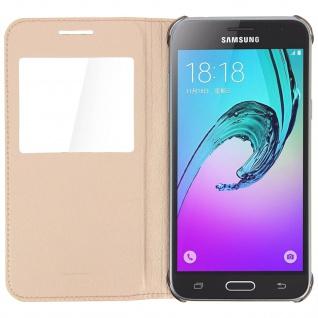 S-View Flip-Schutzhülle für Samsung Galaxy J3 - Gold - Vorschau 3