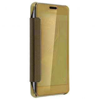 Goldene Clear View Schutzhülle für Samsung Galaxy J3 - Vorschau 4