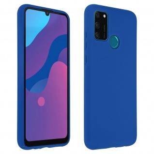 Halbsteife Silikon Handyhülle für Honor 9A, Soft Touch - Blau