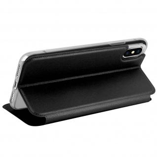 Apple iPhone X Flip-Schutzhülle mit Sichtfenster und Kartenfach - Schwarz - Vorschau 5