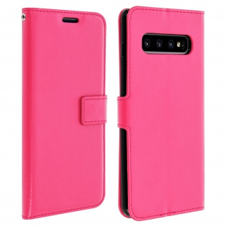 Flip Stand Cover Brieftasche & Standfunktion für Samsung Galaxy S10 Plus - Rosa