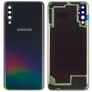 Ersatzteil Akkudeckel, neue Rückseite für Samsung Galaxy A70 - Schwarz
