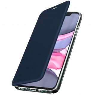 Spiegel Hülle, dünne Klapphülle für Apple iPhone 11 - Dunkelblau