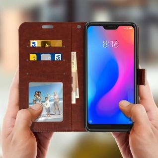 Flip Cover Stand Case Brieftasche & Standfunktion für Xiaomi Mi A2 - Braun - Vorschau 2