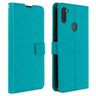 Flip Stand Case Brieftasche & Standfunktion für Galaxy A11 - Blau