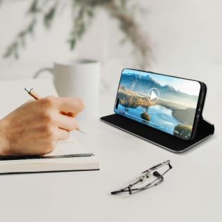 Huawei P40 Pro Klappetui, Cover mit Carbon Design & Ständer ? Schwarz - Vorschau 3