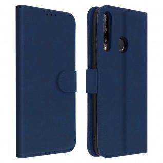 Flip Cover Geldbörse, Klappetui Kunstleder für Huawei P40 Lite E ? Blau
