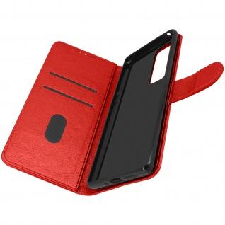 Flip Cover Geldbörse, Etui Kunstleder für Oppo Find X3 Neo ? Rot