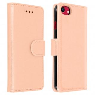 Flip Cover Geldbörse, Etui Kunstleder für iPhone SE 2020 / 8 / 7 ? Rosegold