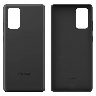 Original Samsung Soft Touch Cover Silikon Samsung Galaxy Note 20 - Schwarz