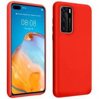 Halbsteife Silikon Handyhülle Huawei P40, Soft Touch - Rot