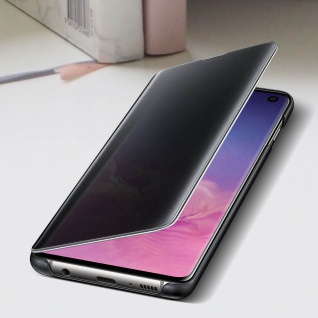 Original Samsung Clear View Cover für Samsung Galaxy S10 - Schwarz - Vorschau 4