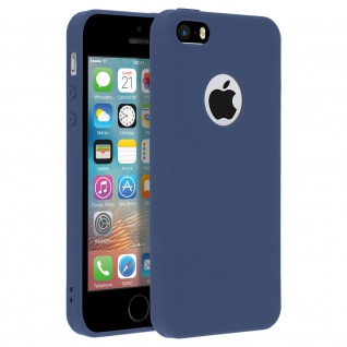 Forcell Apple iPhone 5 / 5S / SE Soft Touch Silikonhülle, soft case - Dunkelblau