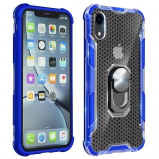 Hybrid Handyhülle mit Ring Halterung für Apple iPhone XR - Blau