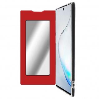 Spiegel Hülle, dünne Klapphülle für Samsung Galaxy Note 10 - Rot