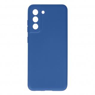 Halbsteife Silikon Handyhülle für Samsung Galaxy S21 FE, Soft Touch ? Blau