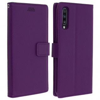 Samsung Galaxy A70 Flip-Cover mit Kartenfächern & Standfunktion - Violett