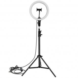 Ringlicht 35cm / 15W mit Handyhalterung und Stativ, Baseus - Schwarz
