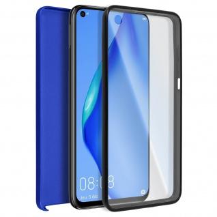 Schutzhülle für Huawei P40 Lite, Vorder- + Rückseite ? Blau