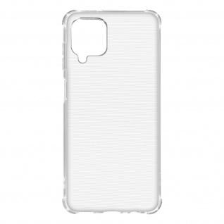 Flexible Samsung Galaxy A12 Silikon Bumper Hülle, stoßfest - Transparent
