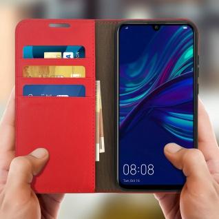 Business Leder Cover, Schutzhülle mit Geldbörse für Huawei P Smart 2019 - Rot - Vorschau 3