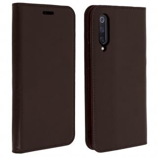 Business Leder Cover, Schutzhülle mit Geldbörse für Xiaomi Mi 9 - Braun