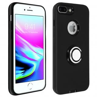 Armor Shield Handyhülle mit Ring Halterung für iPhone 7 Plus / 8 Plus - Schwarz