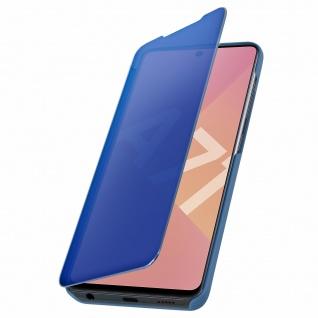 Mirror Klapphülle, Spiegelhülle für Samsung Galaxy A71 - Blau - Vorschau 5