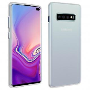 Gelhülle, flexibles Backcover für Samsung Galaxy S10 Plus, frosted case - Weiß