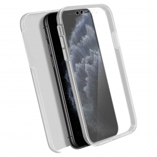 Schutzhülle für Apple iPhone 11 Pro Max, Vorder- + Rückseite ? Transparent