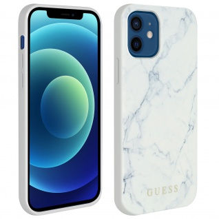 Guess Marble Cover Handyhülle für Apple iPhone 12 Mini - Weiß