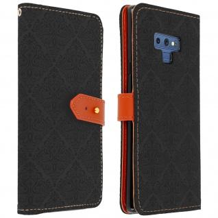 Flip Kunstleder Cover Geldbörse im Orient-Stil für Galaxy Note 9 - Schwarz