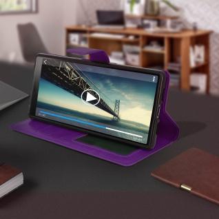 Flip Stand Cover Brieftasche & Standfunktion für Sony Xperia 10 - Violett - Vorschau 4