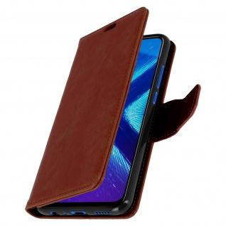 Flip Stand Cover Brieftasche & Standfunktion Huawei Honor 8X - Braun - Vorschau 2