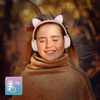 Katzenohren kabellose Bluetooth Kopfhörer, Kitty Headset ? Beigegrau - Vorschau 4