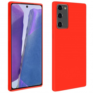 Halbsteife Silikon Handyhülle Samsung Galaxy Note 20, Soft Touch - Rot
