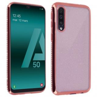 Schutzhülle, Glittery Case für Samsung Galaxy A50, shiny & girly Hülle - Rosa