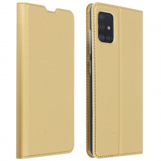 Klappetui mit Kartenfach & Standfunktion Samsung Galaxy A51 - Gold