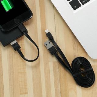 2x iPhone/iPad Stecker auf USB Kabel, 0, 16m + 1m, Aufladen&Sync, Remax - Schwarz - Vorschau 3
