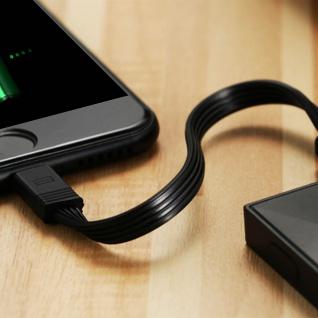 2x iPhone/iPad Stecker auf USB Kabel, 0, 16m + 1m, Aufladen&Sync, Remax - Schwarz - Vorschau 4