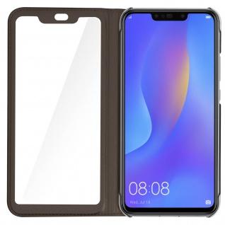 Smart View Flip Cover, Klappetui für Huawei P Smart Plus - Braun - Vorschau 5