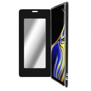 Spiegel Hülle, dünne Klapphülle für Samsung Galaxy Note 9 - Schwarz
