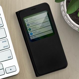 Klapphülle mit Sichtfenster für Xiaomi Mi Note 10 Lite ? Schwarz - Vorschau 5