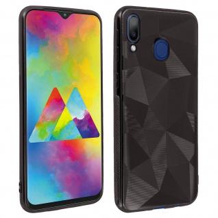 Holographische Handyhülle für Samsung Galaxy M20, Prism Design, Mocca - Schwarz