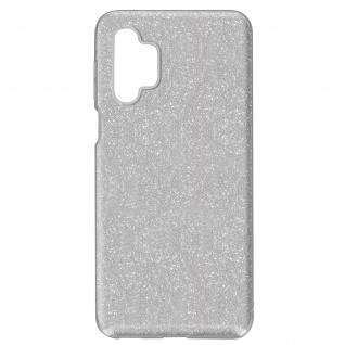 Schutzhülle, Glitter Case für Samsung Galaxy A32 â€? Silber